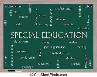 concetto, parola, lavagna, speciale, educazione, nuvola