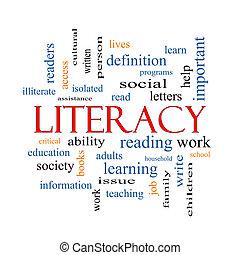 concetto, parola, nuvola, alfabetismo