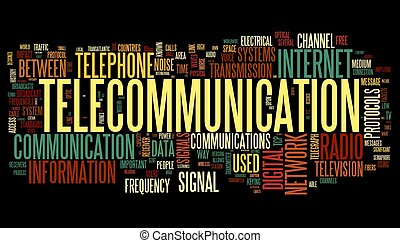 concetto, parola, telecomunicazione, nuvola, etichetta