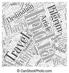 concetto, parola, viaggiare, india, punte, nuvola
