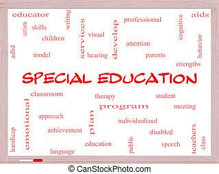 concetto, parola, whiteboard, speciale, educazione, nuvola