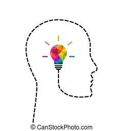 concetto, pensare, creativo, testa