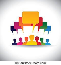 concetto, persone, graphic., personale, riunioni, &, media, -, comunicazione, anche, asse, condottiero, motivando, ditta, voce, direzione, studente, persone, rappresenta, grafico, questo, unione, ecc, vettore, sociale