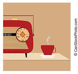 concetto, radio, retro