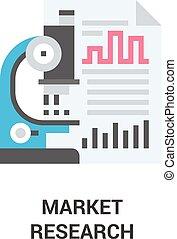 concetto, ricerca, mercato, icona