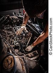 concetto, riparazione automobile