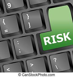 concetto, rischio, affari, esposizione, amministrazione, chiave, assicurazione