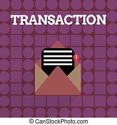 concetto, scambio, testo, accordo, transaction., scrittura, istanza, significato, vendita, qualcosa, scrittura, o, acquisto