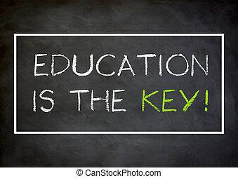 concetto, -, scritto, lavagna, chiave, educazione