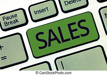 concetto, servizio, prodotto, scambio, soldi, scrittura, sales., significato, vendita, qualcosa, testo, azione, scrittura