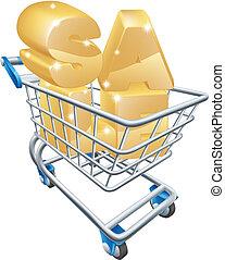 concetto, shopping, vendita, carrello