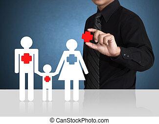 concetto, sicurezza, assicurazione, simbolo
