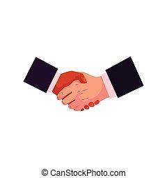 concetto, stretta di mano, affare, partneship, scossa mano