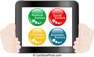 concetto, tavoletta, bottone, analisi, pc, peste, digitale, icona