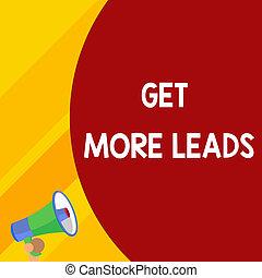 concetto, testo, mezzo, vendite, possedere, vuoto, tuo, enorme, balloon, scrittura, megaphone., vuoto, più, clienti, affari, ottenere, parte, leads., parola, migliorare, announcement., bersaglio, piccolo