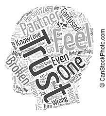 concetto, testo, rotto, wordcloud, fondo, fiducia