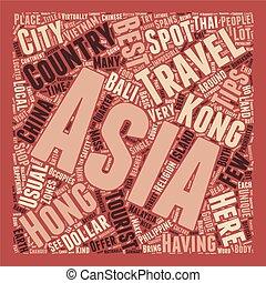 concetto, testo, viaggiare, asia, wordcloud, sicurezza, fondo, punte