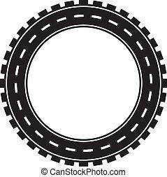 concetto, trasporto, image., pneumatico, travel., strada