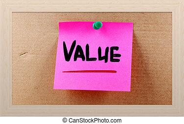 concetto, valore