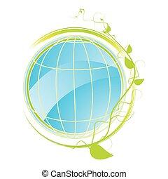 concetto, verde, icona
