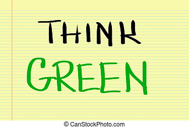 concetto, verde, pensare