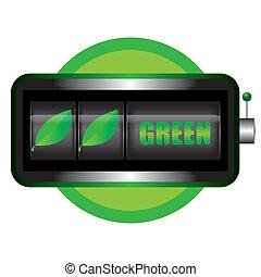 concetto, vettore, verde