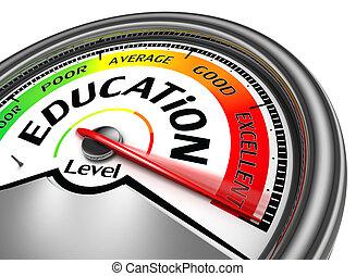 concettuale, educazione, metro, livello