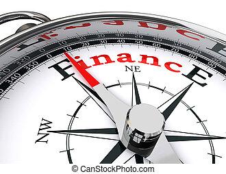 concettuale, finanza, bussola