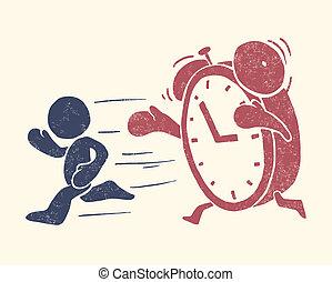 concettuale, illustrazione, tempo