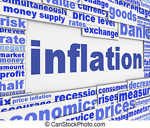 concettuale, messaggio, inflazione, disegno