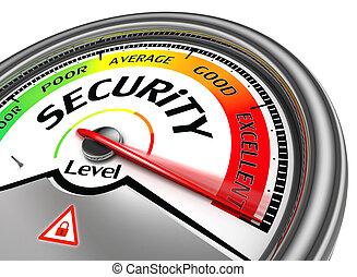 concettuale, sicurezza, metro, livello