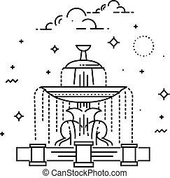 concord., la, parigi, de, posto, punto di riferimento, fontana