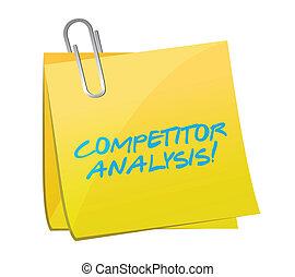 concorrente, palo, disegno, analisi, illustrazione