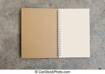concreto, calendario, fondo, vuoto