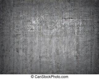 concreto, grigio, fondo.