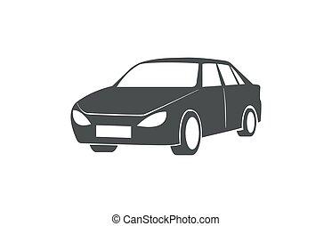 condivisione, automobile, simbolo., automobilistico, vettore, trasporto pubblico