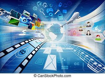 condivisione, multimedia, internet