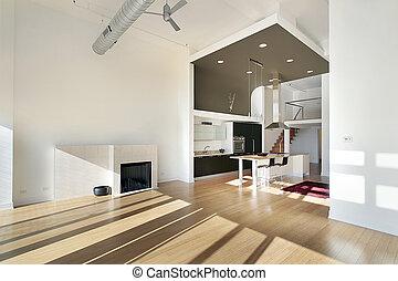 condominio, contemporaneo, cucina