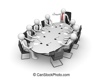 conferenza, corporativo, stanza riunione