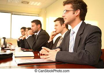 conferenza, persone, cinque, affari