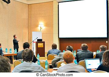 conferenza, presentazione, aditorium