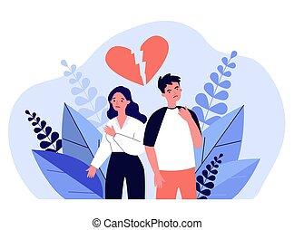 conflitto, detenere, datazione, coppia