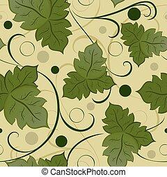 congedi verdi, vettore, pattern., seamless