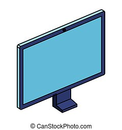 congegno, computer desktop, monitor, icona