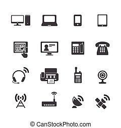 congegno, comunicazione, icone