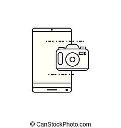 congegno, domanda, smartphone, macchina fotografica