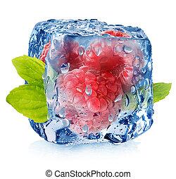 congelato, lamponi