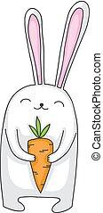 coniglietto, carota