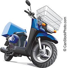 consegna, beni, motocicletta