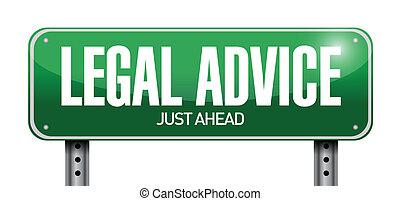 consiglio, legale, segno, disegno, illustrazione, strada